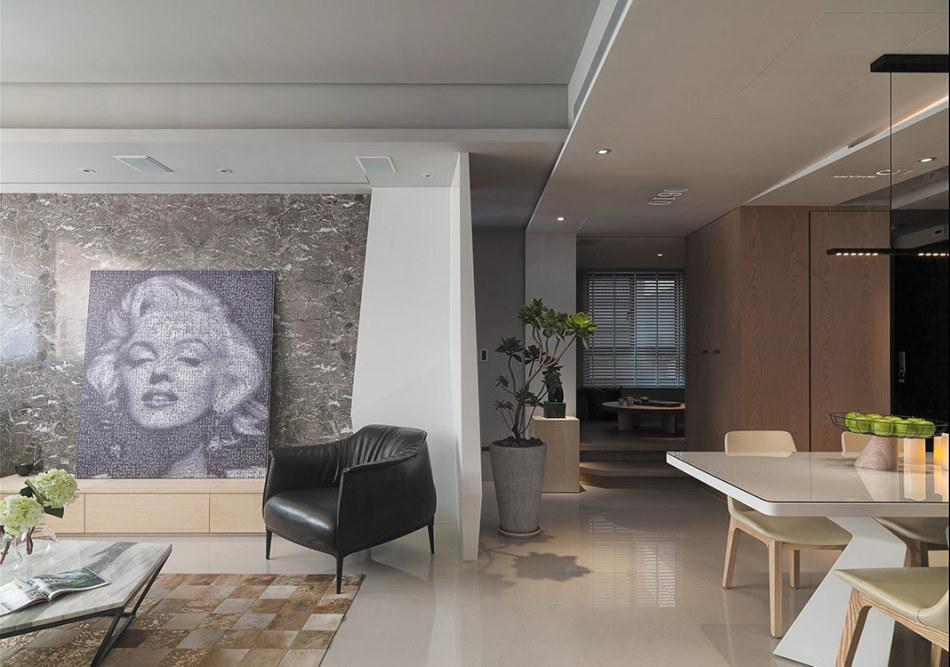 现代风格电视主墙造型图