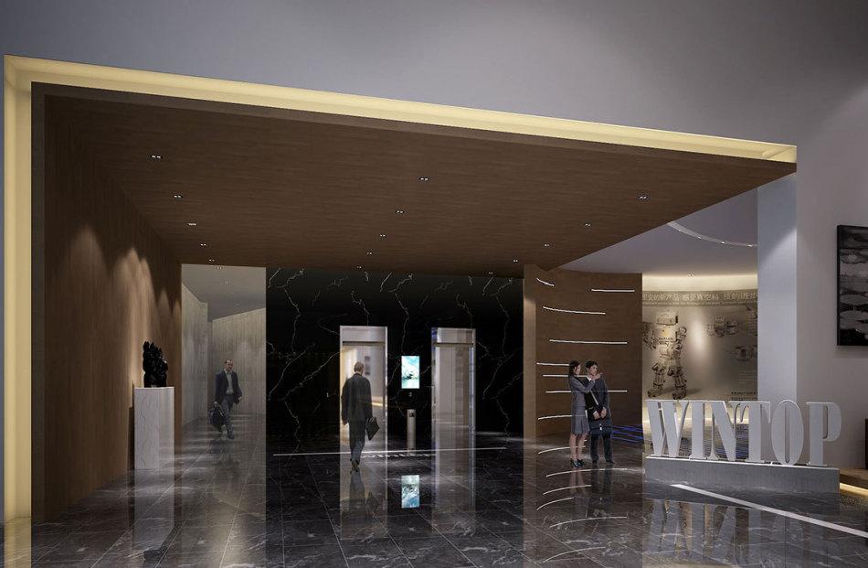 现代风格梯厅装修效果图