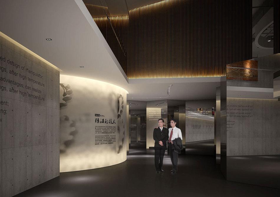 现代风格历史展厅装修效果图