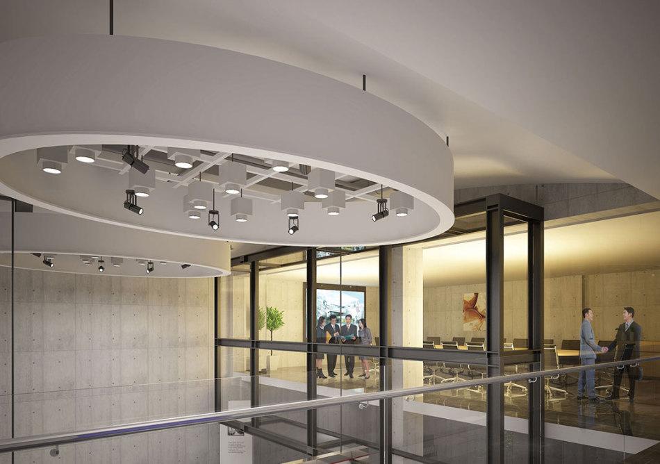 现代风格会议室装修效果图