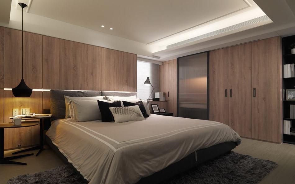 现代工业风主卧室图片