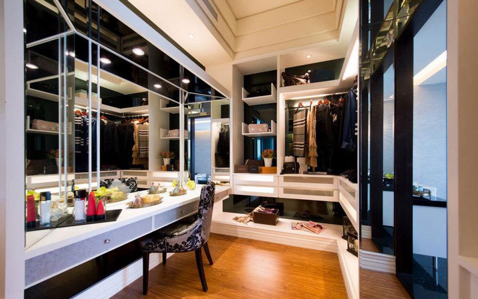 现代风格更衣室图