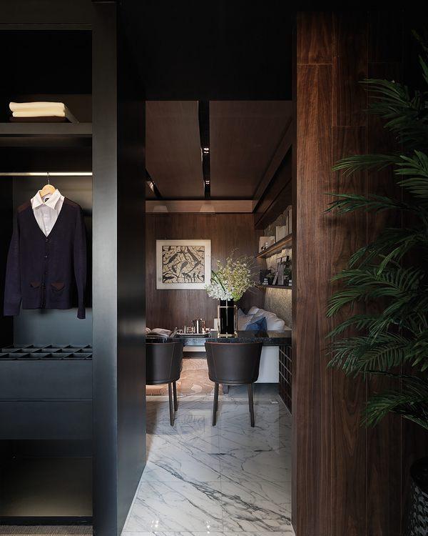 现代风格由厨房望向客厅设计图片