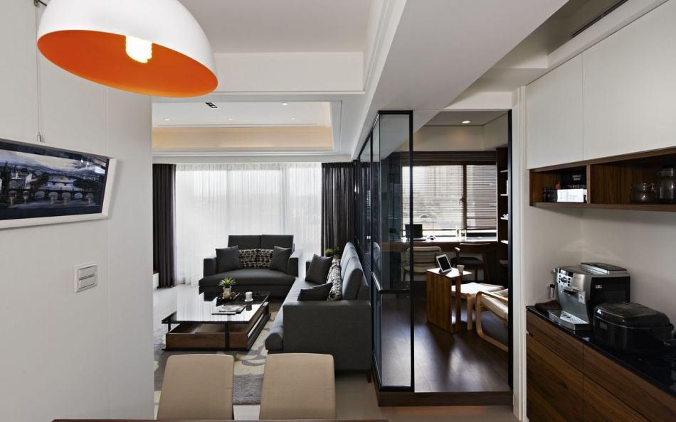 现代风格备餐柜设计图片