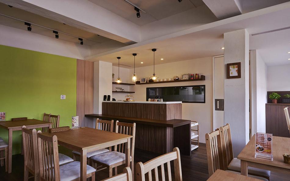 休闲多元吧檯与厨房图