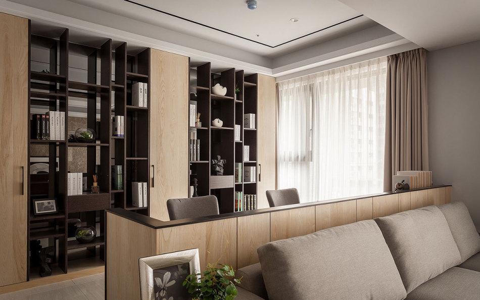 现代风格开放式书房装修案例