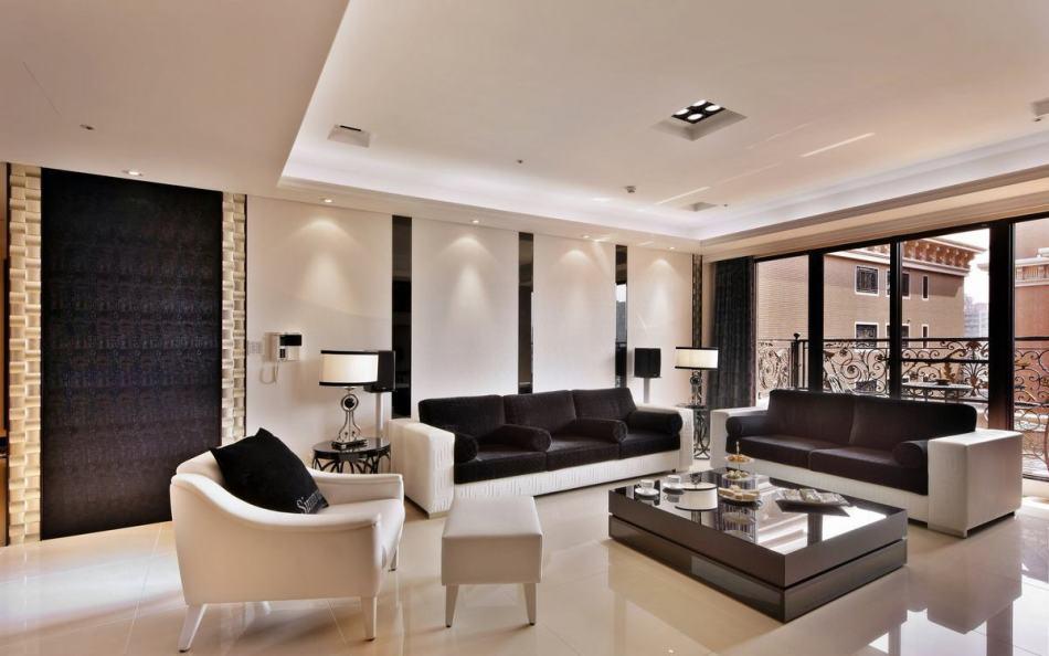现代风格客厅背墙设计图片