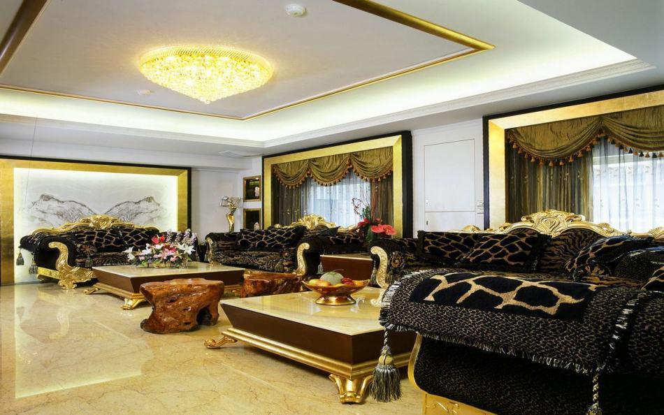 奢华风格客厅效果图