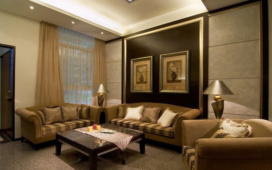 新古典客厅背墙欣赏图