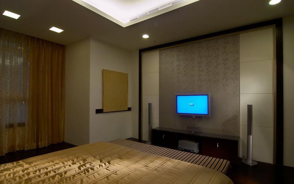 新古典主卧室电视墙欣赏图