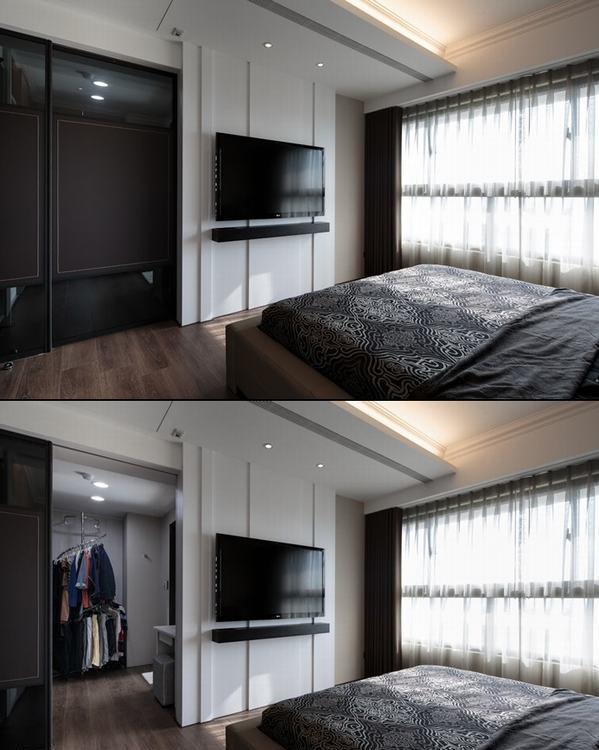 现代风格主卧室装修图片