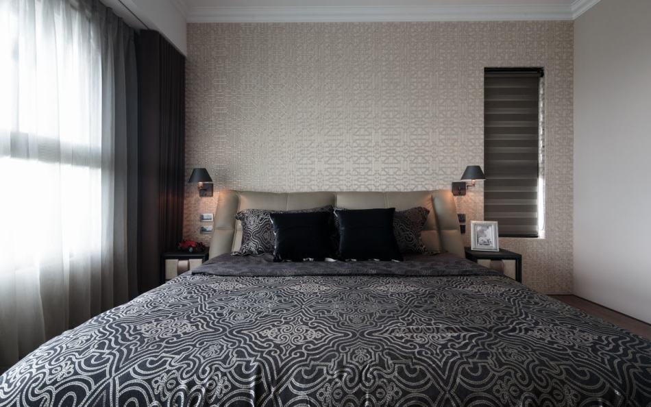 现代风格主卧床头装修图片