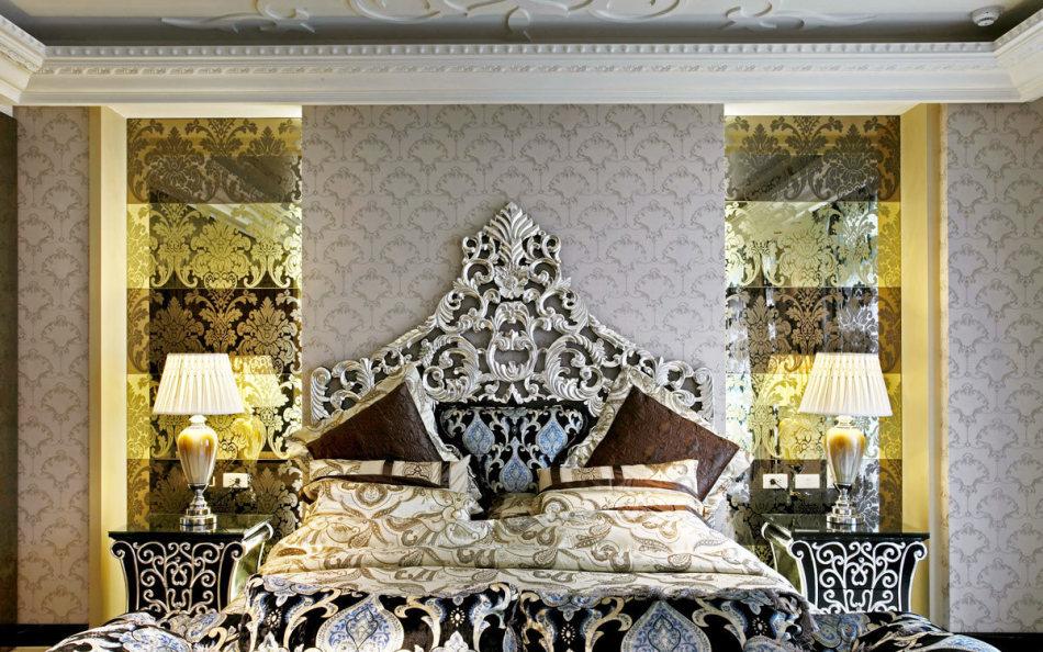 奢华风格床头设计效果图