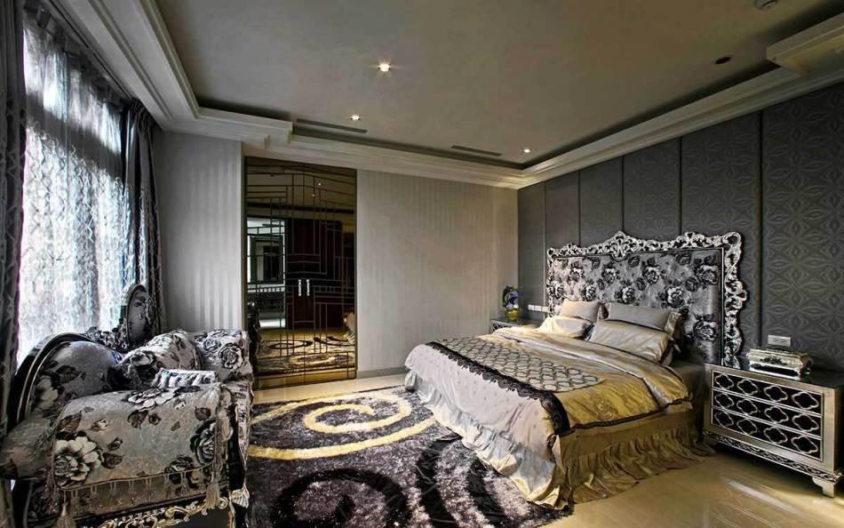 奢华风格卧房效果图