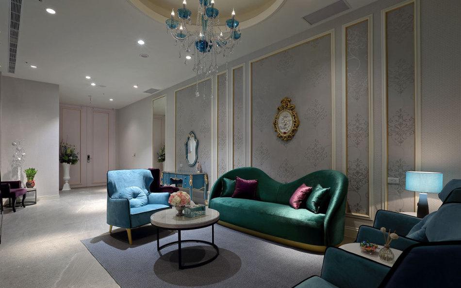 现代古典新娘休息室装修图片