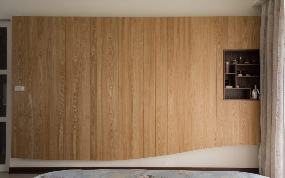 现代风格床尾立面图