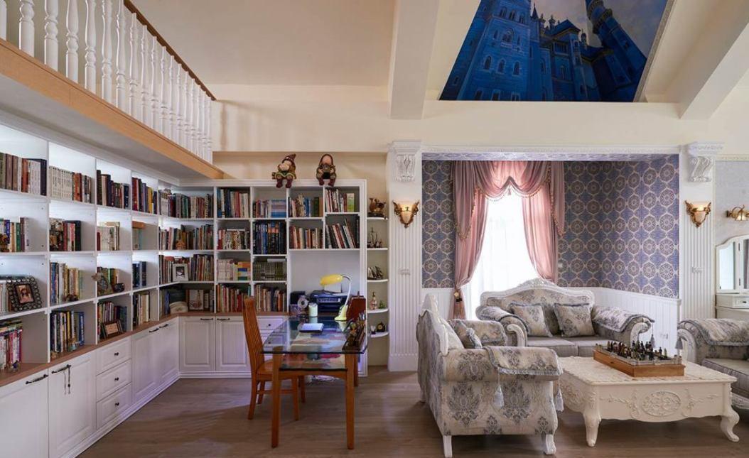 地中海风格工作书房装修案例