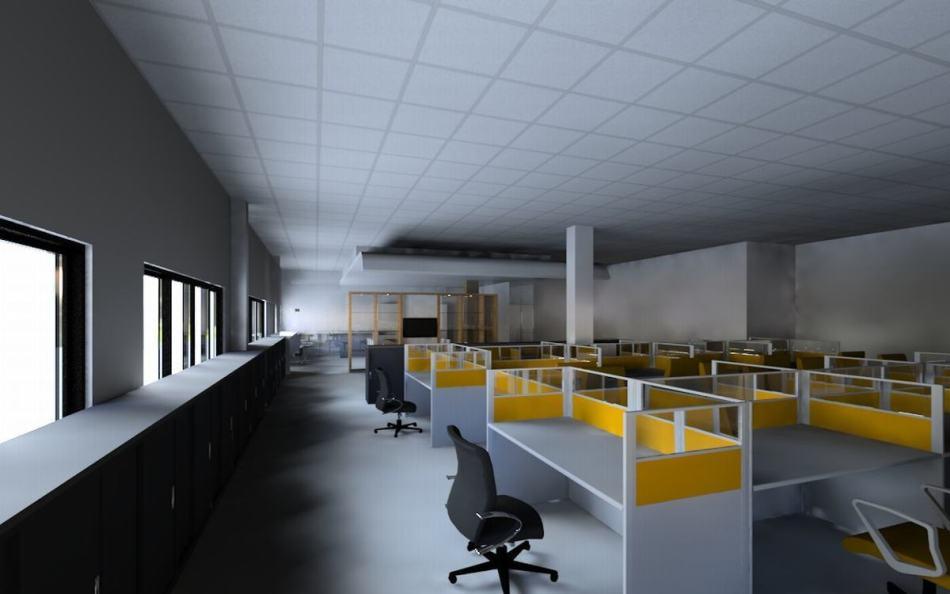 现代风格1F办公区图片