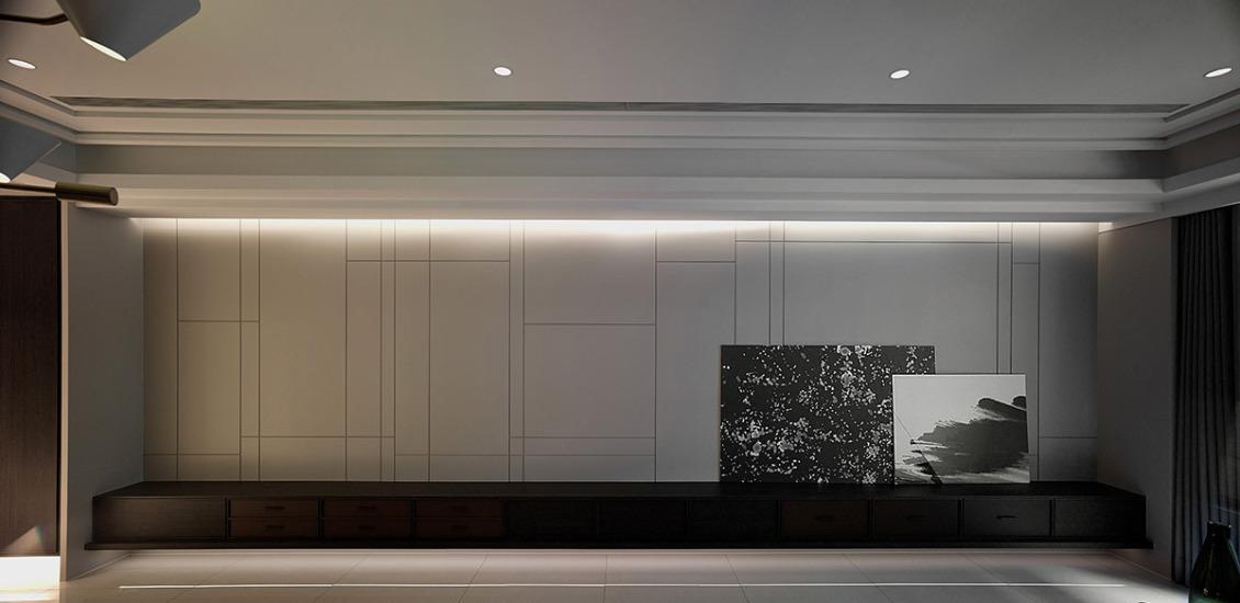 现代风格主墙设计设计效果图