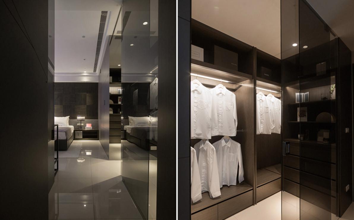 现代风格更衣室设计效果图