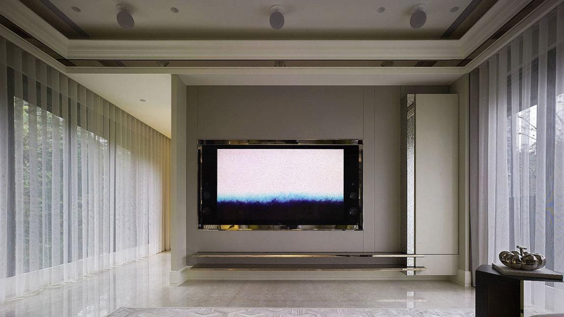 美式风格电视墙效果图