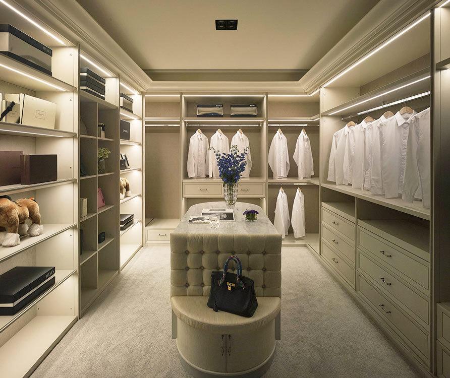 美式风格更衣室效果图