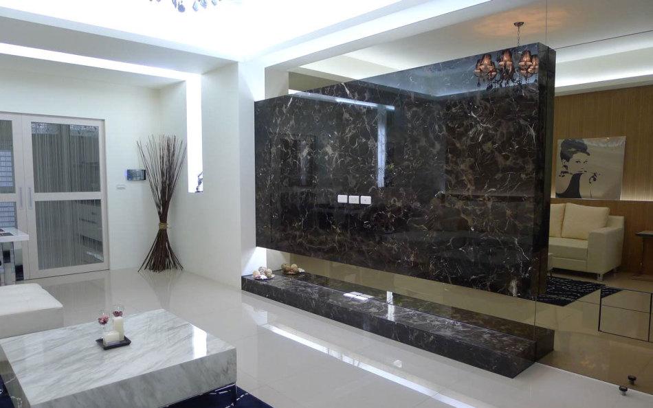 现代风格客厅主墙效果图
