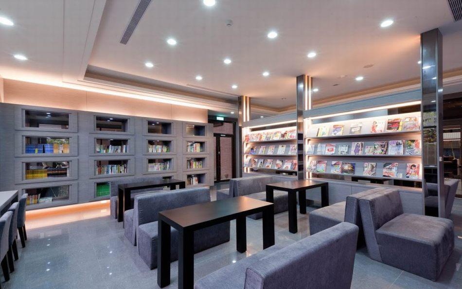 混搭风阅览室设计效果图