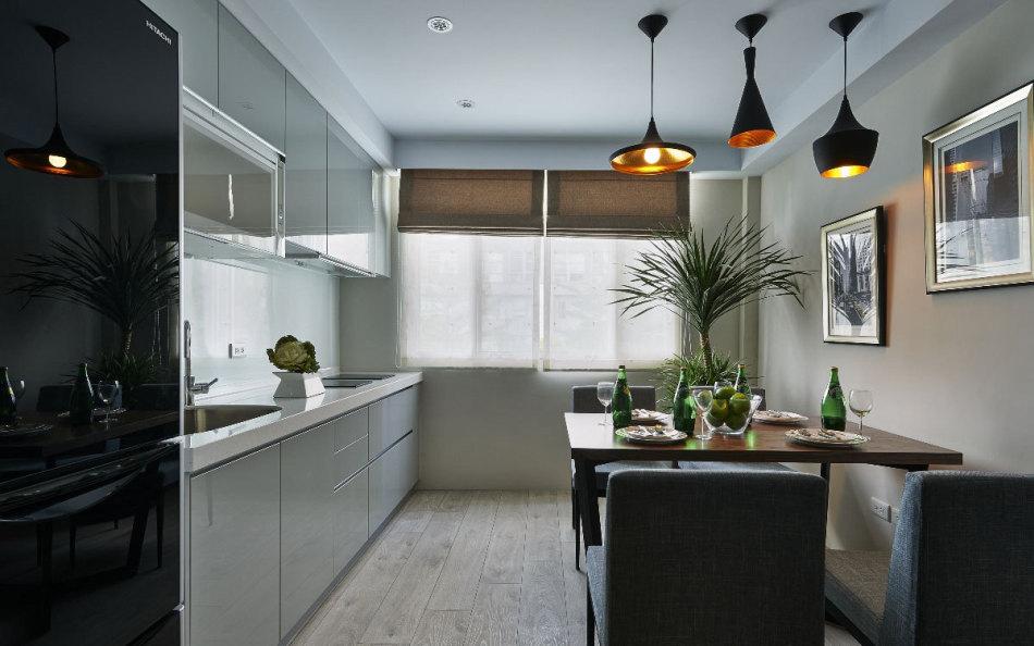 北欧风格餐厨空间欣赏图
