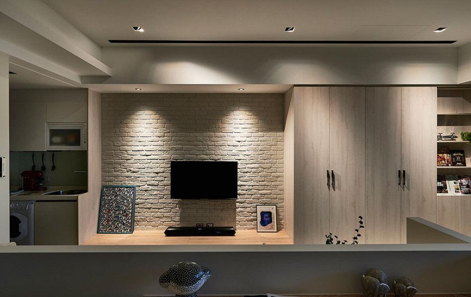 北欧风格电视墙装修案例