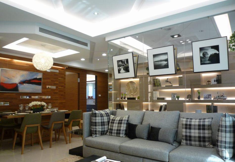 现代风格沙发背墙效果图