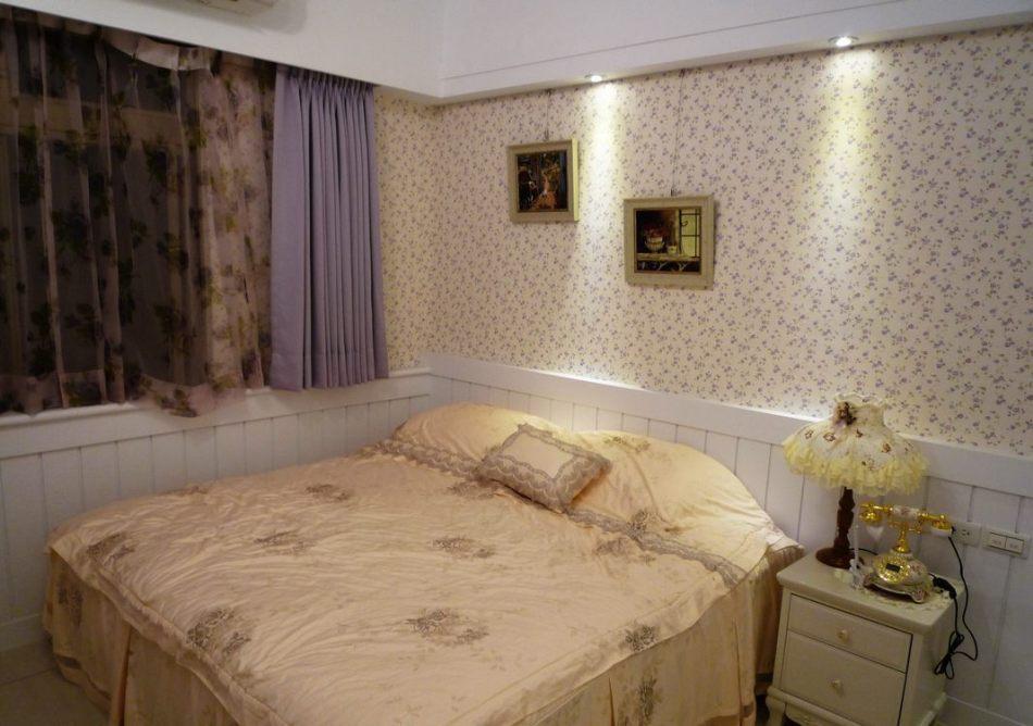 乡村风格主卧室装修效果图