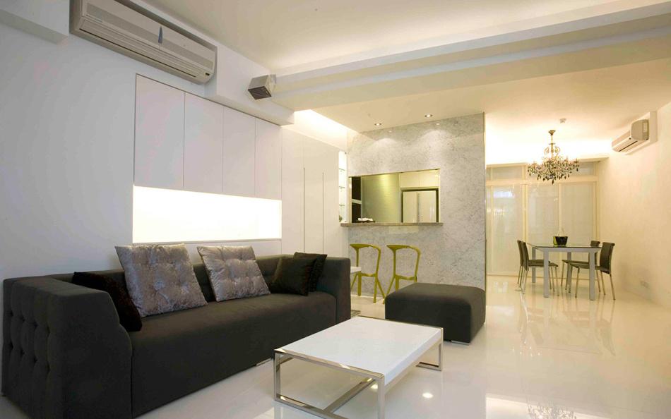 现代风格沙发背墙装修效果图