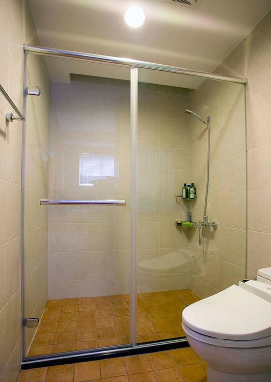 乡村风格主卧卫浴设计效果图