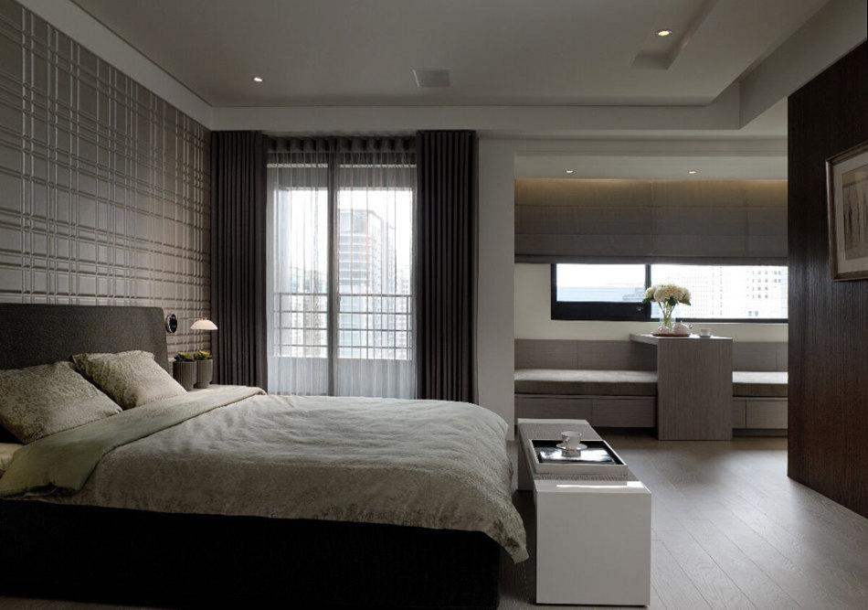 现代风格主卧室装修案例