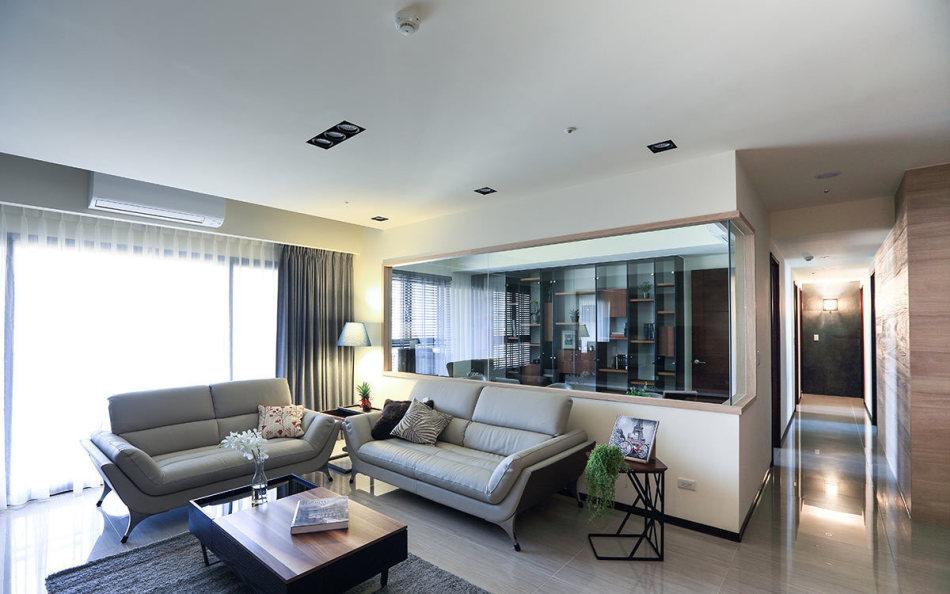 现代简约风沙发背墙设计图片