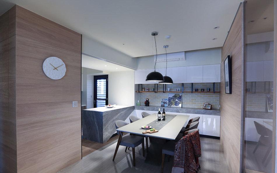 现代简约风餐厨区设计图片