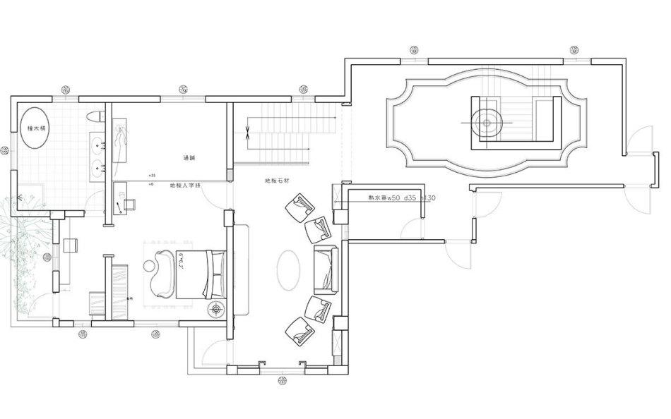 古典风格2F平面配置图图片