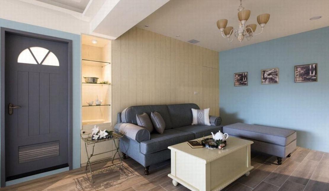 法式乡村风沙发背墙装修效果图