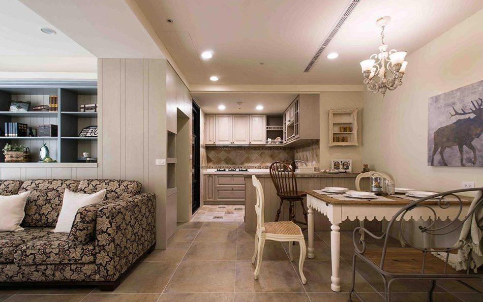 乡村风格餐厨空间设计图片