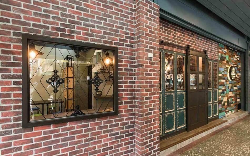 异国风格红砖外墙设计图片