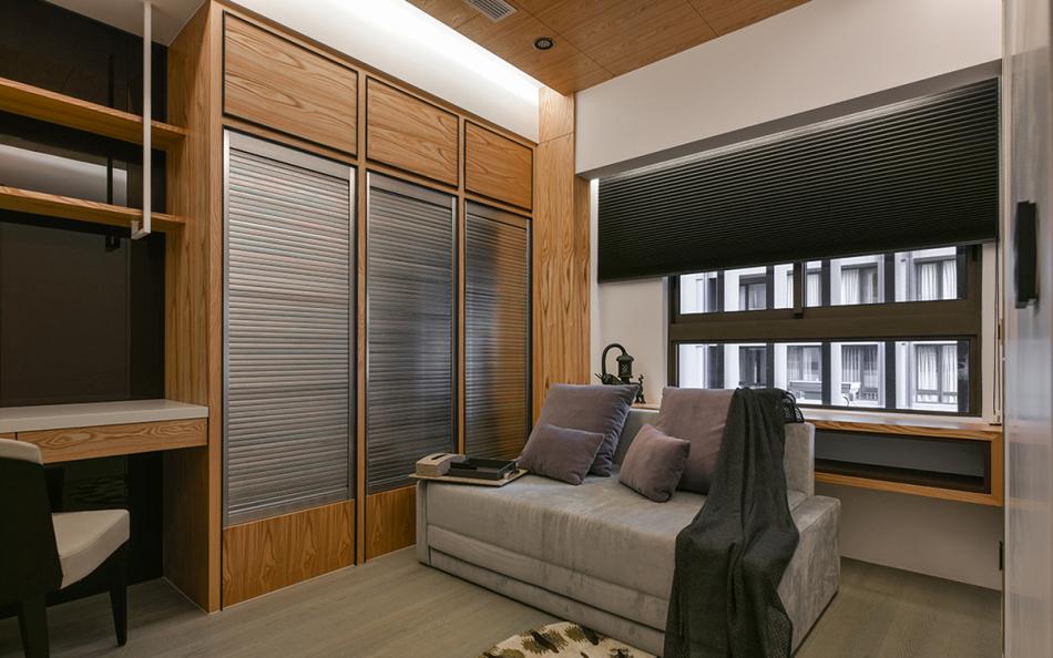 东方风格书房兼客房装修案例