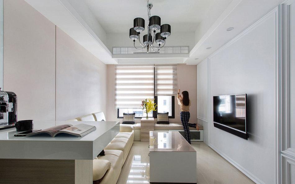 现代新古典客厅设计效果图