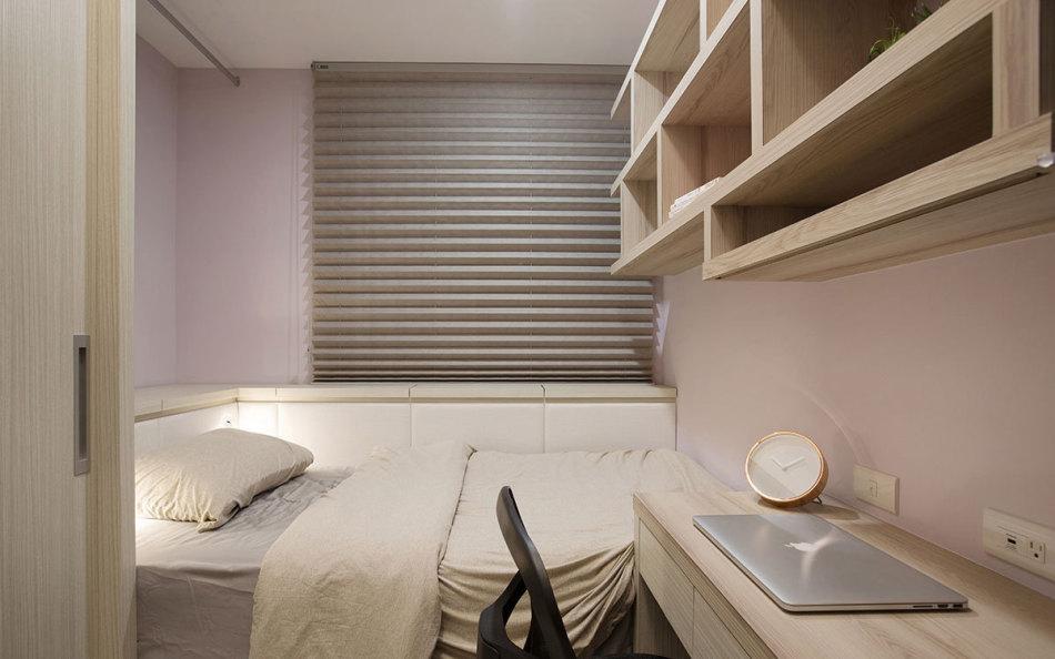 现代新古典次卧设计效果图