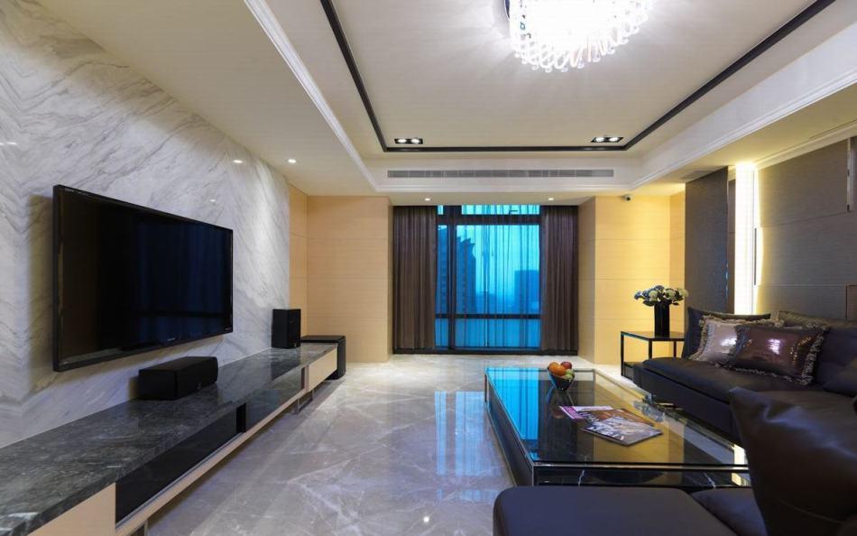 现代风格客厅主墙欣赏图