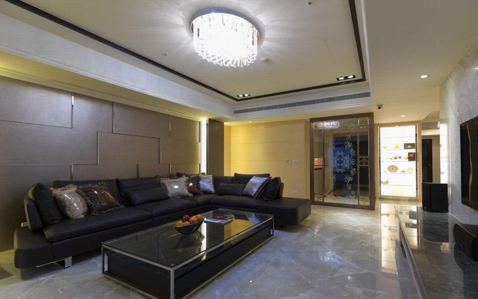 现代风格客厅背墙欣赏图