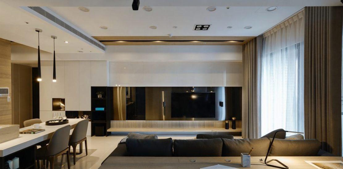 现代休闲电视墙装修案例