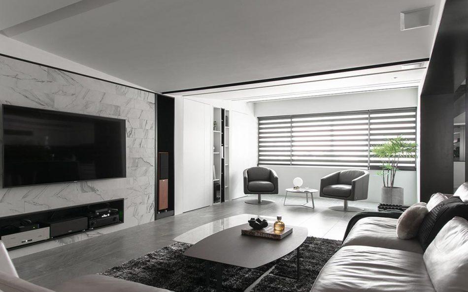现代风格电视墙图