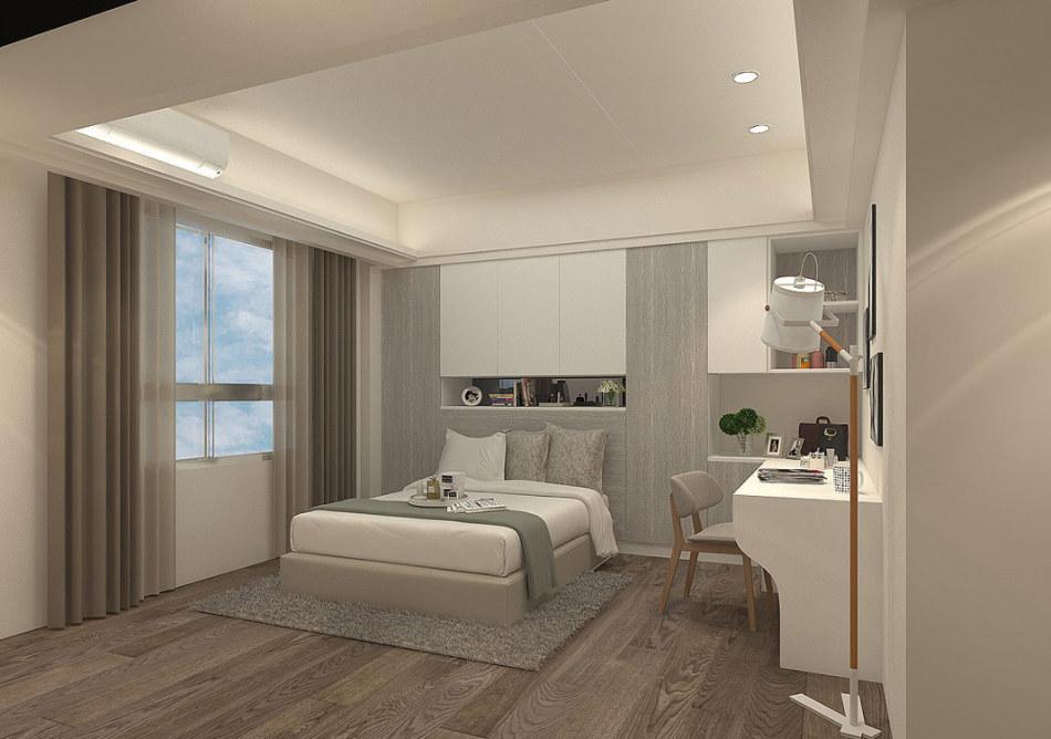 现代风格卧房设计装修效果图