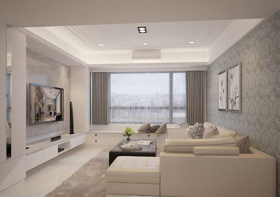 现代新古典沙发背墙设计图片